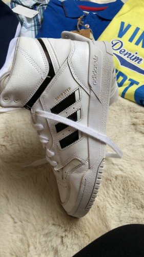 Adidas Basket montante blanc-noir cuir