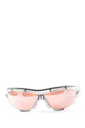 Adidas ovale Sonnenbrille schwarz-nude Casual-Look