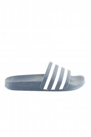 Adidas Scuffs blue-white striped pattern casual look