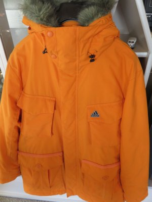 Adidas Hooded Coat neon orange polyamide