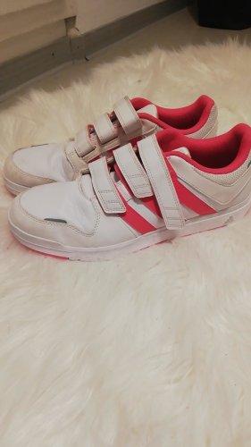Adidas Trampki na rzepy biały-różowy