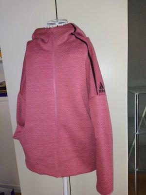 Adidas Pink Sweatjacke mit Kapuze und 4 Taschen Größe 44-46