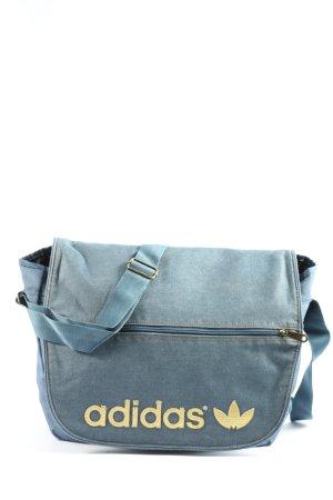 Adidas Torba z klapą niebieski-biały Wydrukowane logo W stylu casual