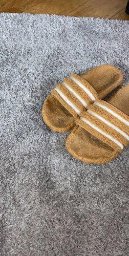 Adidas Ciabatta aperta bianco-arancione chiaro