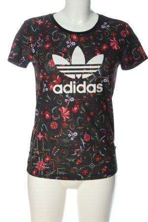 Adidas Camicia fantasia nero stampa integrale stile casual