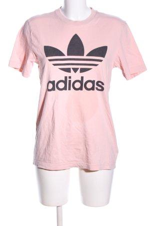 Adidas Koszulka z nadrukiem różowy-czarny Nadruk z motywem W stylu casual