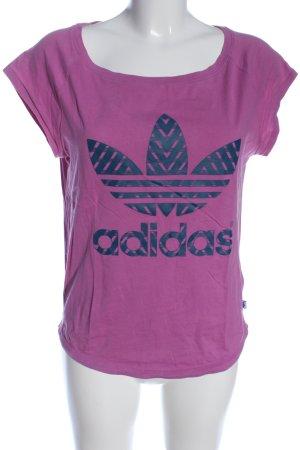 Adidas Print-Shirt lila-blau Casual-Look
