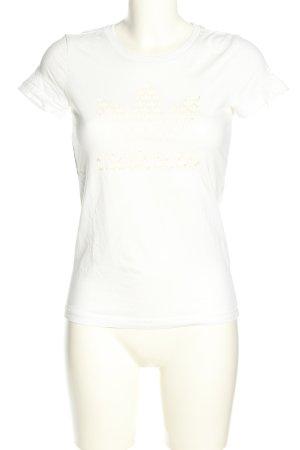 Adidas T-shirt imprimé blanc imprimé avec thème style décontracté