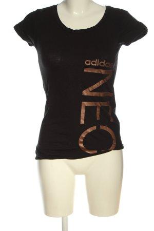 Adidas Camiseta estampada negro-color bronce estampado temático look casual