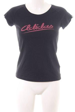 Adidas Shirt met print zwart-roze prints met een thema casual uitstraling