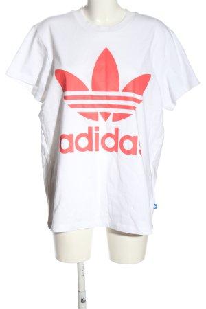 Adidas Koszulka z nadrukiem biały-czerwony Nadruk z motywem W stylu casual