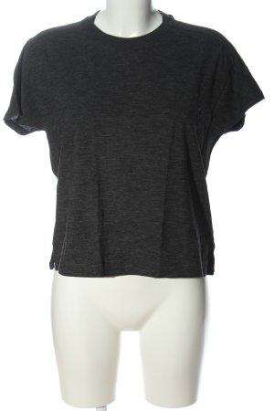 Adidas Print-Shirt schwarz meliert Casual-Look