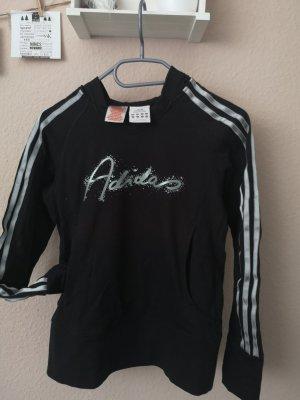 Adidas Sweter z kapturem czarny-srebrny