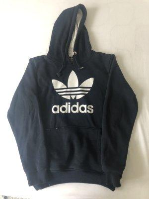 Adidas Sweter z kapturem ciemnoniebieski