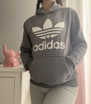 Adidas Sweter z kapturem szary