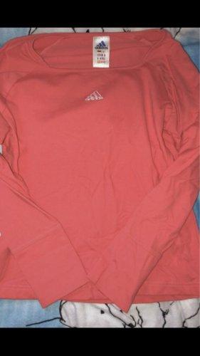 Adidas Sweter z okrągłym dekoltem pomarańczowy neonowy