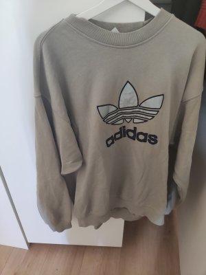 Adidas Sweter oversize szaro-brązowy-ochra