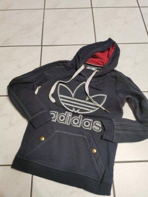 Adidas Warkoczowy sweter szary niebieski