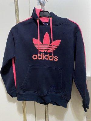 Adidas Capuchon sweater donkerblauw-roze