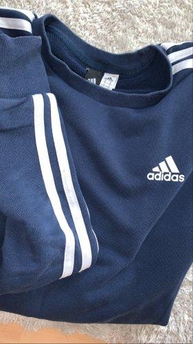 Adidas Maglione girocollo bianco-blu scuro