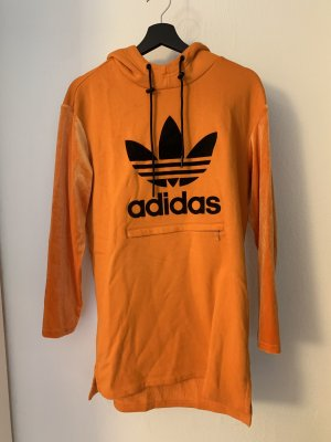 Adidas Vestido con capucha naranja-negro