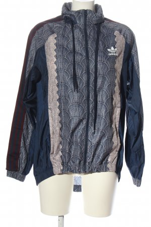 Adidas Regenjacke abstraktes Muster Casual-Look