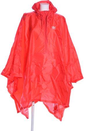 Adidas Regenponcho rot Schriftzug gedruckt Casual-Look