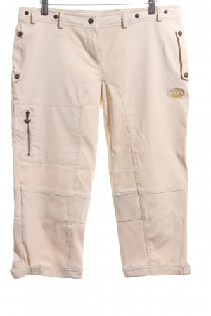 Adidas Riding Trousers cream casual look