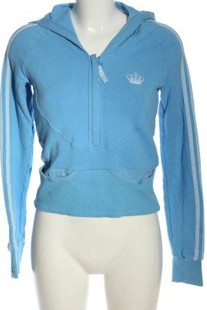 Adidas Respect me Felpa con cappuccio blu stile casual