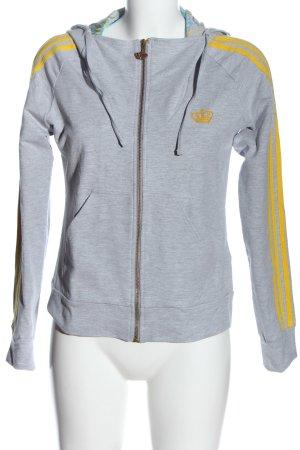 Adidas Respect me Felpa con cappuccio grigio chiaro-giallo pallido puntinato