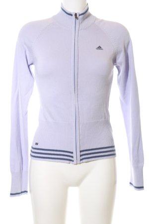 Adidas Rollkragenpullover lila-blau Streifenmuster Casual-Look