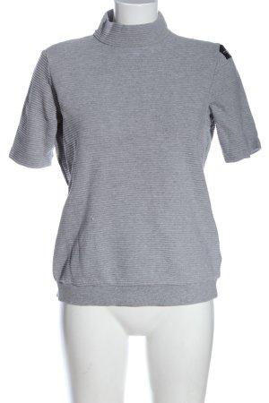 Adidas Maglia a collo alto grigio chiaro puntinato stile casual