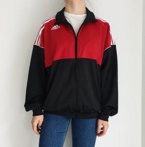 Adidas rot schwarz True Vintage Pulli Pullover Jacke Trainigsjacke Hoodie Sweater Oversize
