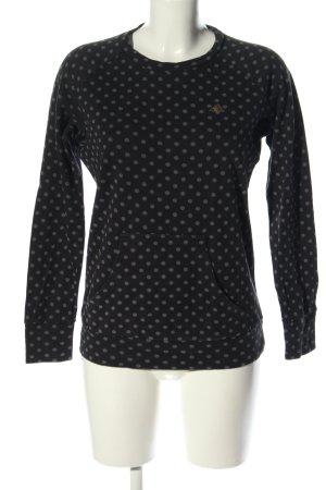 Adidas Sweter z okrągłym dekoltem czarny-jasnoszary Na całej powierzchni