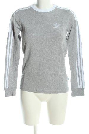 Adidas Rundhalspullover hellgrau meliert Casual-Look