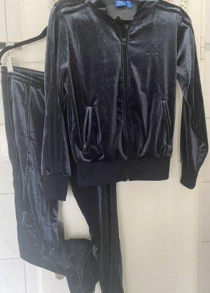 Adidas Spodnie garniturowe ciemnoniebieski Aksamit