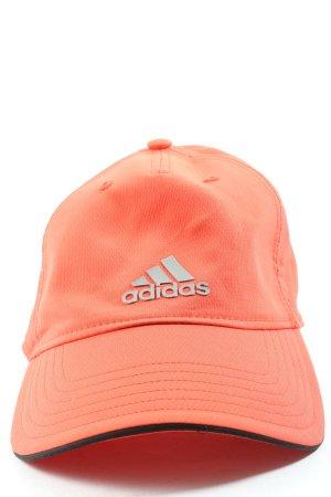 Adidas Cappello con visiera arancione chiaro stile casual