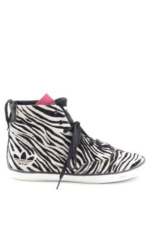 Adidas Schnür-Stiefeletten schwarz-weiß Allover-Druck Casual-Look