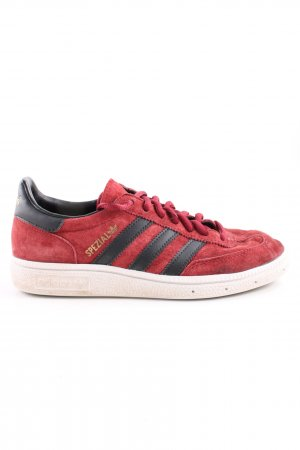 Adidas Schnürschuhe rot-schwarz Motivdruck Casual-Look
