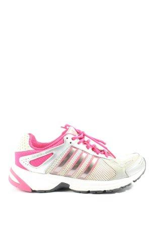 Adidas Schnürschuhe weiß-pink Casual-Look