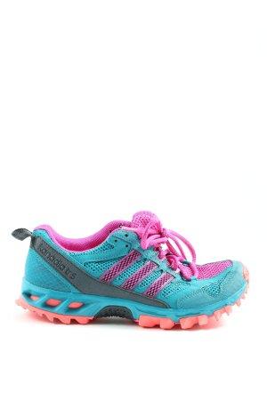 Adidas Schnürschuhe blau-pink Casual-Look