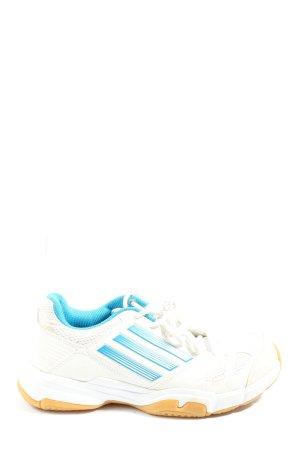Adidas Schnürsneaker weiß-blau Motivdruck Casual-Look