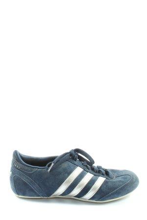 Adidas Schnürsneaker blau-weiß Streifenmuster Casual-Look