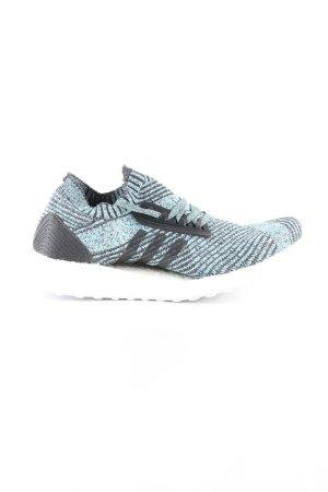 Adidas Schnürsneaker türkis-schwarz Streifenmuster Casual-Look