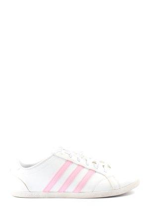 Adidas Sznurowane trampki biały-różowy W stylu casual