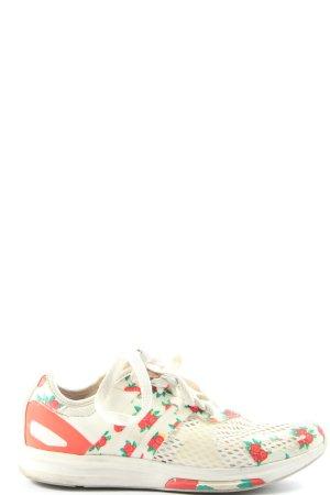 Adidas Zapatilla brogue blanco-rosa estampado floral look casual