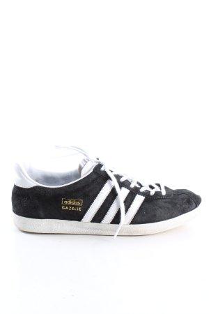 Adidas Sznurowane trampki czarny-biały W stylu casual