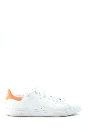 Adidas Sneaker stringata bianco-arancione chiaro stile casual