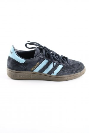 Adidas Schnürsneaker blau-türkis Schriftzug gedruckt Casual-Look