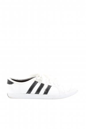 Adidas Sznurowane trampki biały-czarny W stylu casual